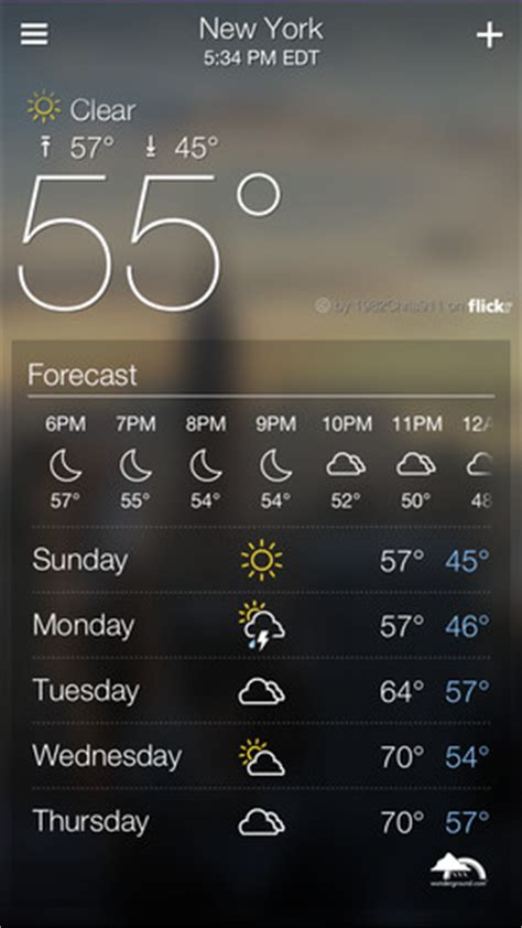 yahoos  weather ios app  terrific