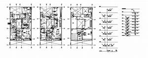 Electrical Layout Plan With Diagram For Apartment Residential Building Dwg File