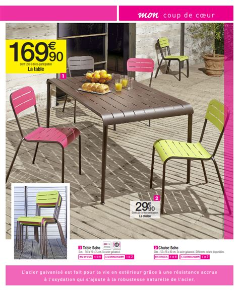 table de jardin intermarche carrefour mobilier de jardin cataloguespromo