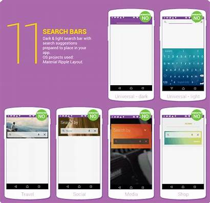 Ui Android App Template Material Marketplace Mobile