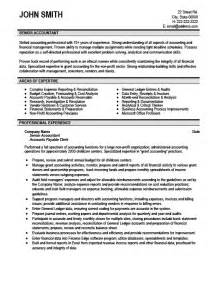 resume exles for senior accountant senior accountant resume template premium resume sles exle