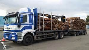 Used Iveco Trakker timber truck AT 380 T 50 6x4 Diesel