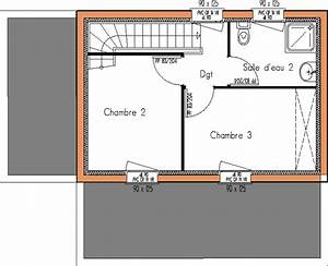 modeles maisons abordables page 1 With plan maison a etage 2 chambres
