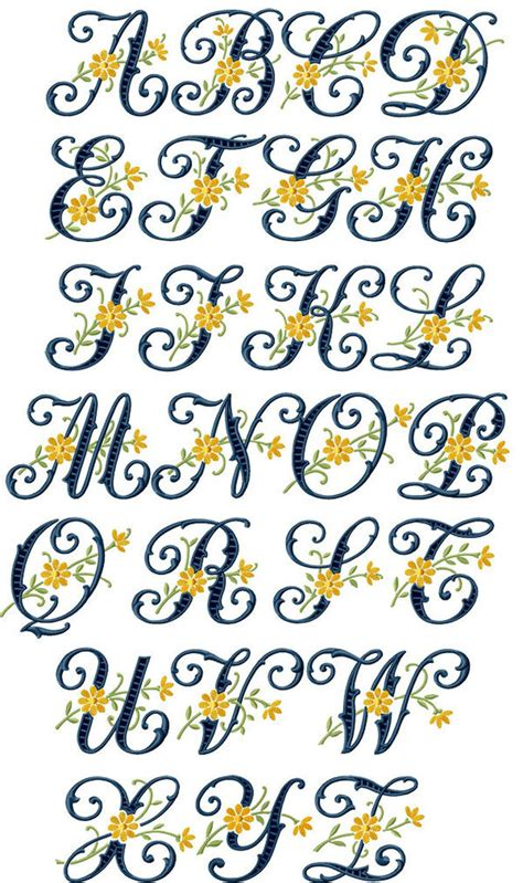 abc designs floral cutwork machine embroidery font   hoop   sizes ebay