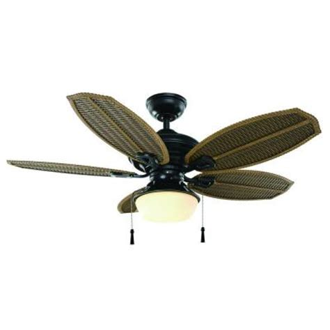 48 outdoor ceiling fan hton bay palm beach iii 48 in natural iron indoor