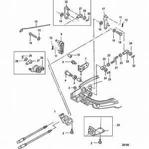 Genuine Mercury  U0026 Mercruiser Parts  Throttle  Shift Linkage