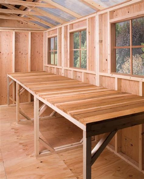 western red cedar work bench shed benches plans