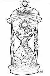 Hourglass Night Verkocht Door sketch template