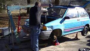 Guy Walks Into Parked Car Fail   91 Ford Festiva