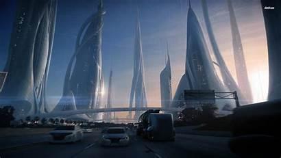 Concept Futuristic Wallpapers Future Fantasy Skyscraper Cityscape