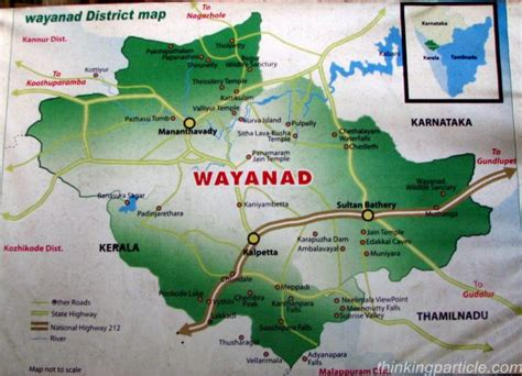 wayanad district map landscapes  india travelers