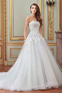 8 fabulous coloured wedding dresses from david tutera for With where to find wedding dresses