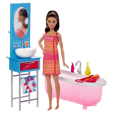 Buy Princess Barbie With Barbie Bathroom Set Online At