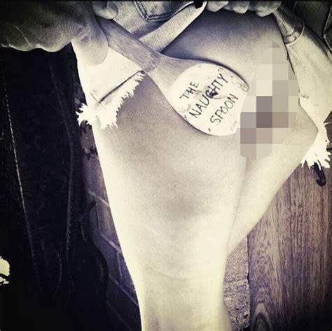 heidi klum exposes bare butt  naughty  instagram