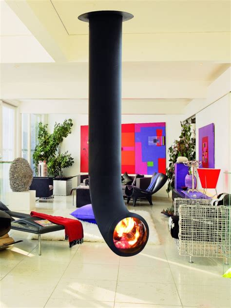 quelle couleur pour la cuisine la cheminée suspendue le design spectaculaire du chauffage