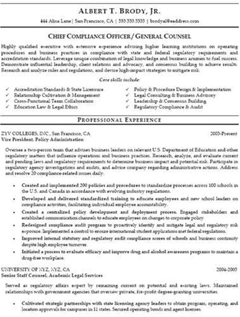 chief compliance officer resume compliance officer resumes