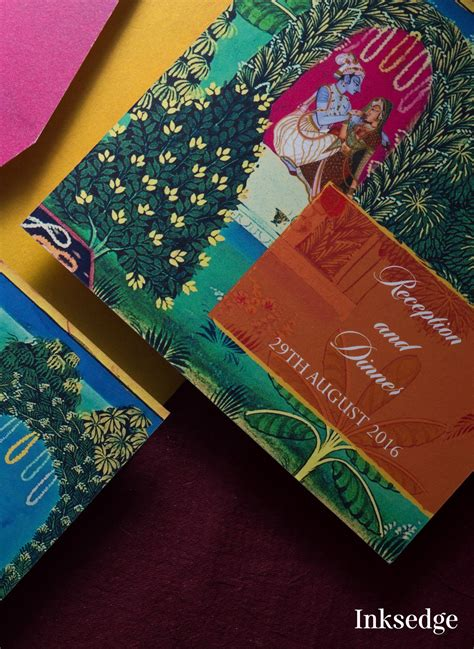 mughal paintings  digitally printed invitations