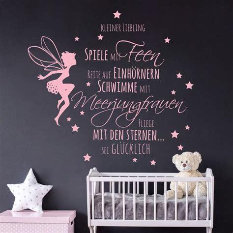 Wandtattoo Kinderzimmer Elfen by Wandtattoos Wandtattoo Babyzimmer Spruch Elfe Feen
