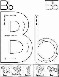 alphabet letter b worksheet preschool printable activity With alphabet letters for preschoolers