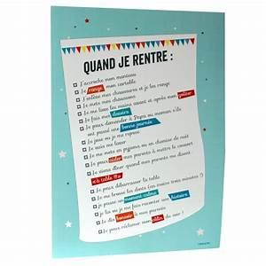 Regle De Vie A La Maison : poster regles vie cause de toi ~ Dailycaller-alerts.com Idées de Décoration