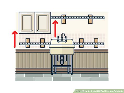 install ikea kitchen cabinets how to install ikea kitchen cabinets with pictures wikihow 4712
