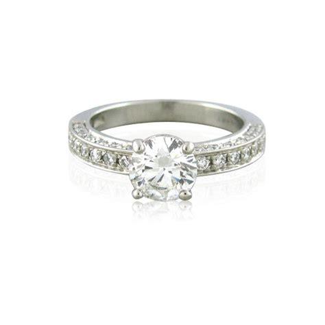 certified bvlgari bulgari platinum 1 00ct f vs1 diamond engagement ring ebay