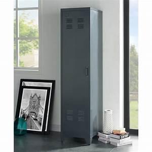 Armoire Vestiaire Metal : camden armoire vestiaire industriel gris fonc l 43 cm ~ Edinachiropracticcenter.com Idées de Décoration