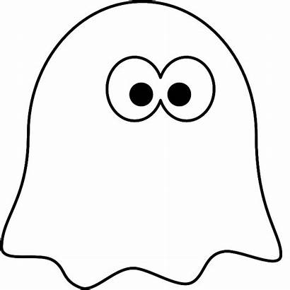 Ghost Cartoon Coloring Pages Halloween Printable Clipart