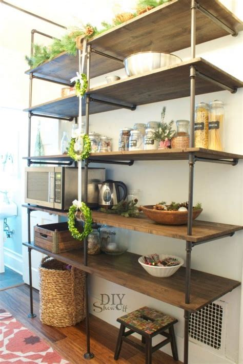 pipe shelves kitchen how to the kitchen furniture