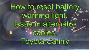 How To Reset Battery Warning Light  Toyota Camry  Issue In