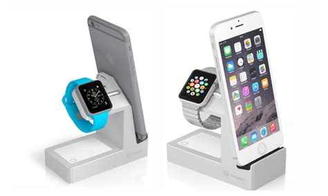 Basecamp Apple Watch Charging Dock for iWatch, iPhone and