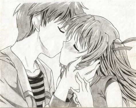 anime kiss in anime kiss by kumatora123 on deviantart