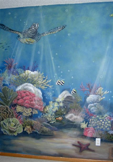 Baby Nursery Ocean Theme Mural Idea As Seen On Www. All Star Banners. Resin Murals. Limb Difference Awareness Signs. Creator Decals. Concert Banners. Creativity Murals. Catatonia Signs. Catfish Decals