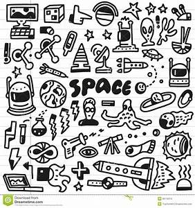 Space - doodles set stock vector. Illustration of moon ...