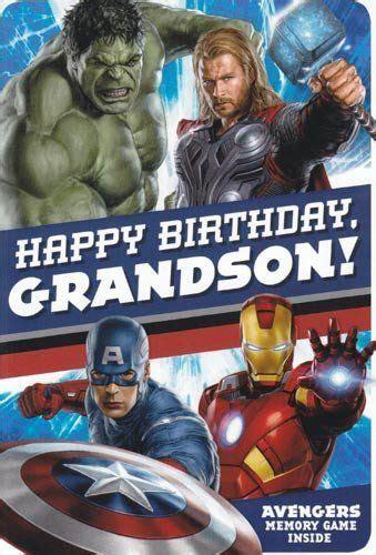 greeting card birthday avengers  happy birthday