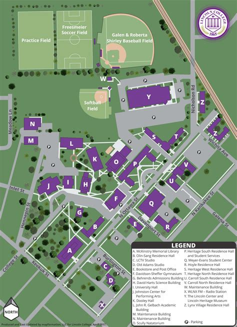 lincoln campus maps directions lincoln college