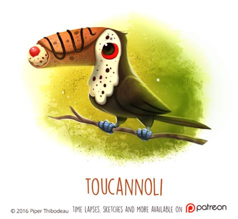 daily paint  toucannoli  cryptid creations time