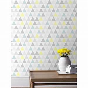 Le Papier Peint Jaune : papier peint tarek bleu jaune scandinave graham brown ~ Zukunftsfamilie.com Idées de Décoration