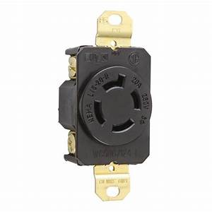 Turnlok 20 Amp 250-volt Locking Receptacle  Black-l1520r