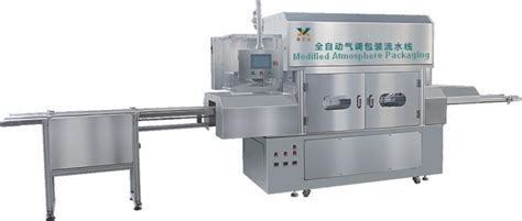 Modified Atmosphere Packaging Of Seafood by Gas Flushing Tray Sealer Map Automatic Modified Atmosphere