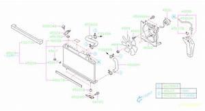 2006 Subaru Impreza Engine Cooling Fan Shroud  Radiator