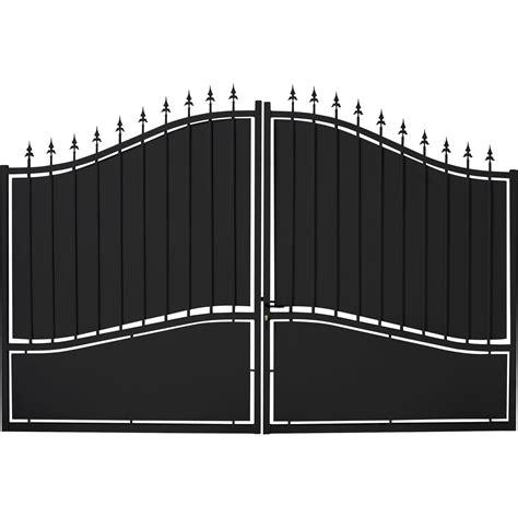 portail battant fer tangara noir l 300 x h 212 cm leroy merlin