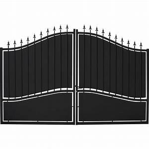Portail 3 Metres : portail battant fer tangara noir x cm leroy ~ Premium-room.com Idées de Décoration