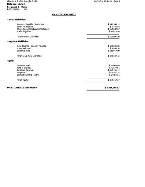 clients profits user guide general ledger