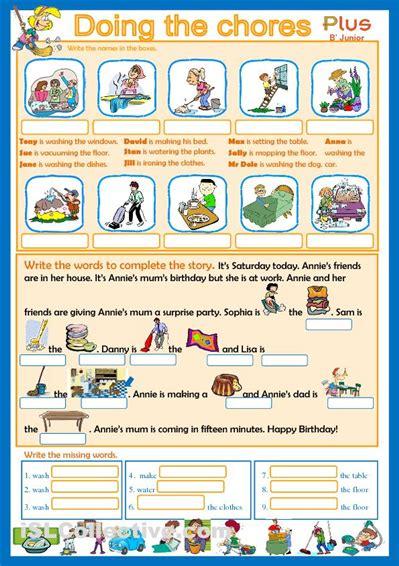 editable chore charts chores worksheet islcollective