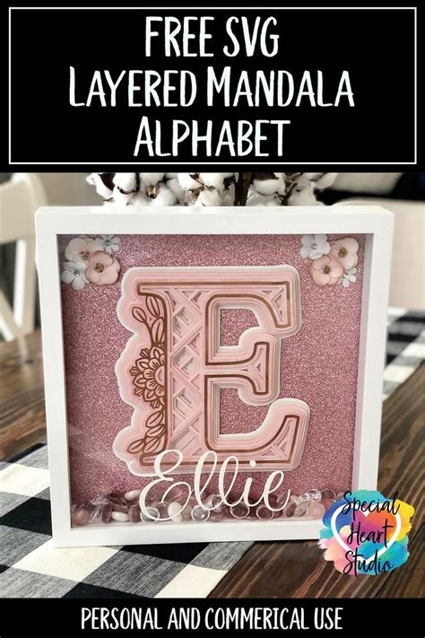 Over 300 free svg files for cricut, silhouette, brother scan n cut cutting. FREE Layered Mandala Alphabet SVG   Flower svg files ...