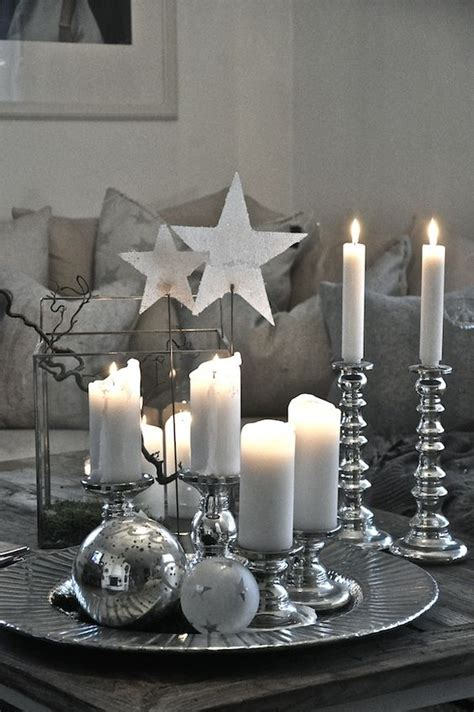 silver table decorations top silver and white christmas decoration ideas christmas celebration