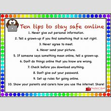 10 Tips To Stay Safe Online By Helenrachelcrossley  Teaching Resources