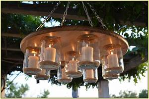 Outdoor candle chandelier non electric light fixtures for No electric outdoor lighting
