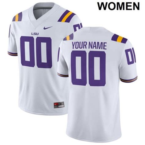 Women's LSU Tigers Custom Name Number Jersey NCAA Football ...